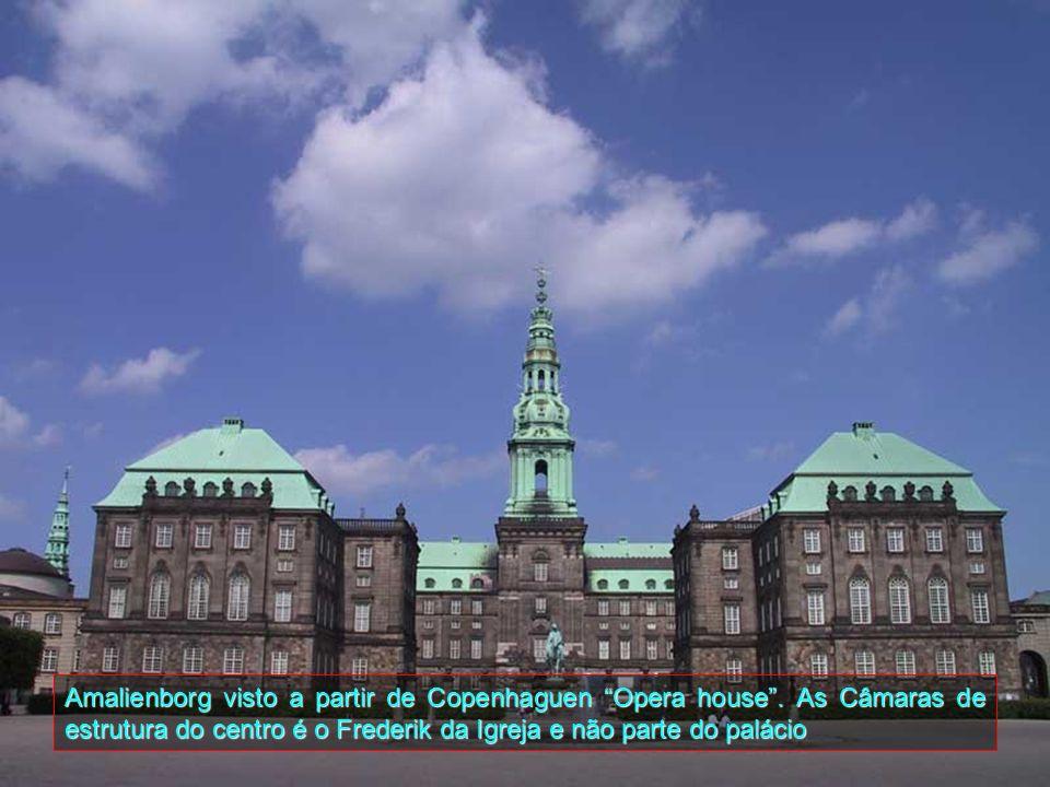 Amalienborg visto a partir de Copenhaguen Opera house