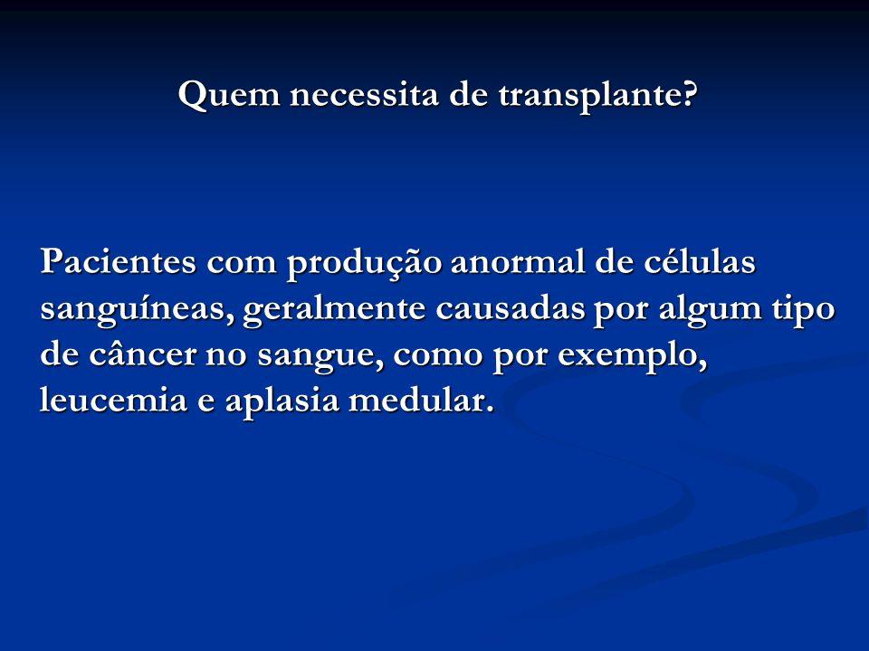 Quem necessita de transplante