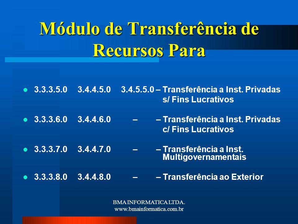 Módulo de Transferência de Recursos Para