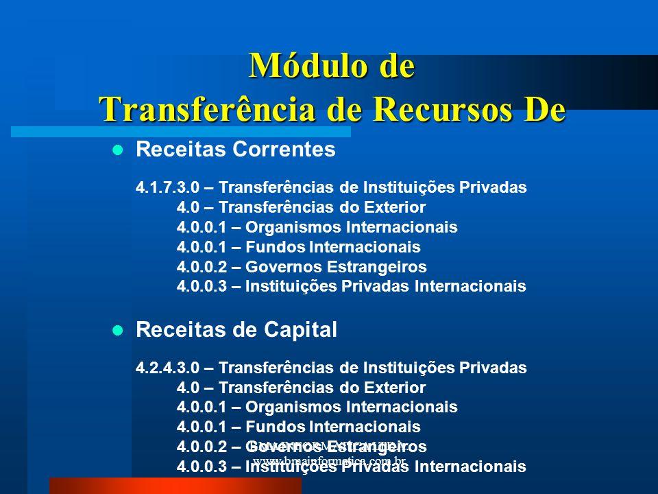 Módulo de Transferência de Recursos De