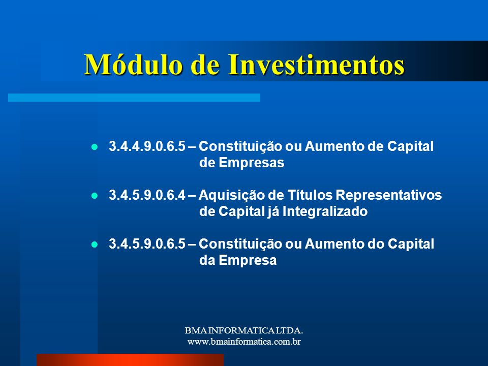 Módulo de Investimentos
