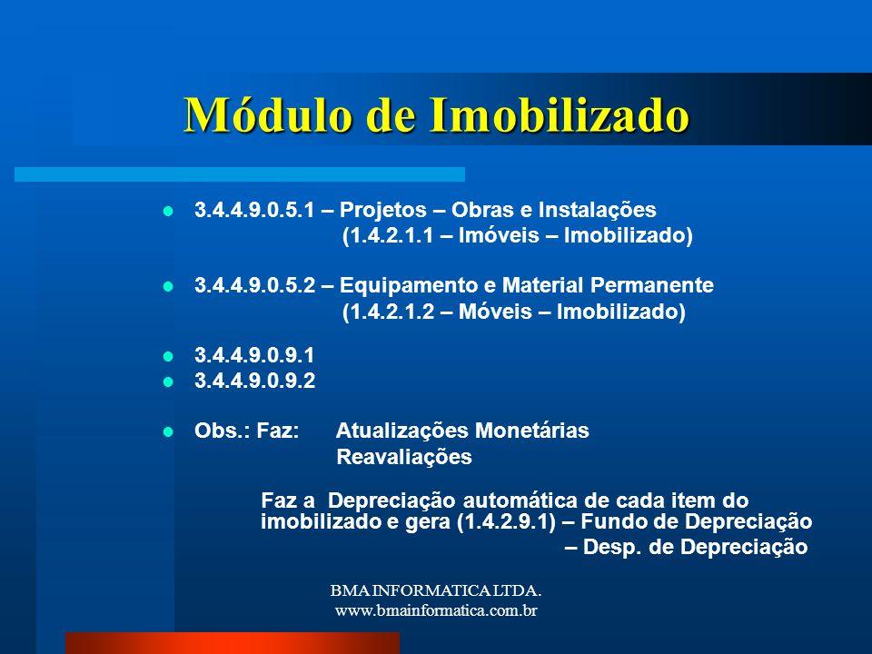 BMA INFORMATICA LTDA. www.bmainformatica.com.br