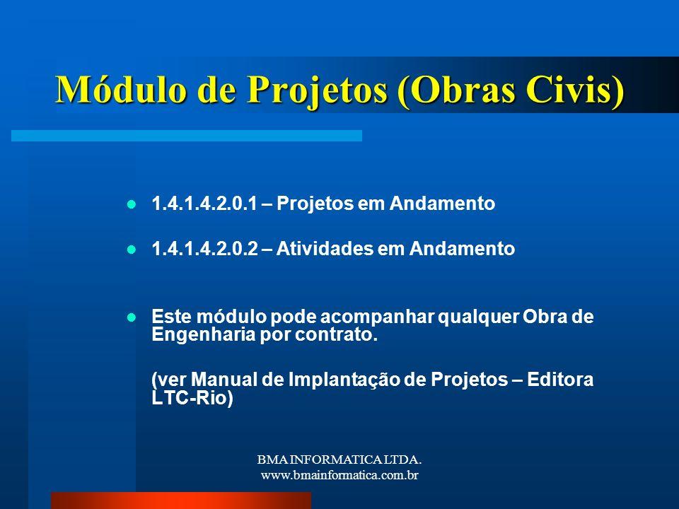 Módulo de Projetos (Obras Civis)