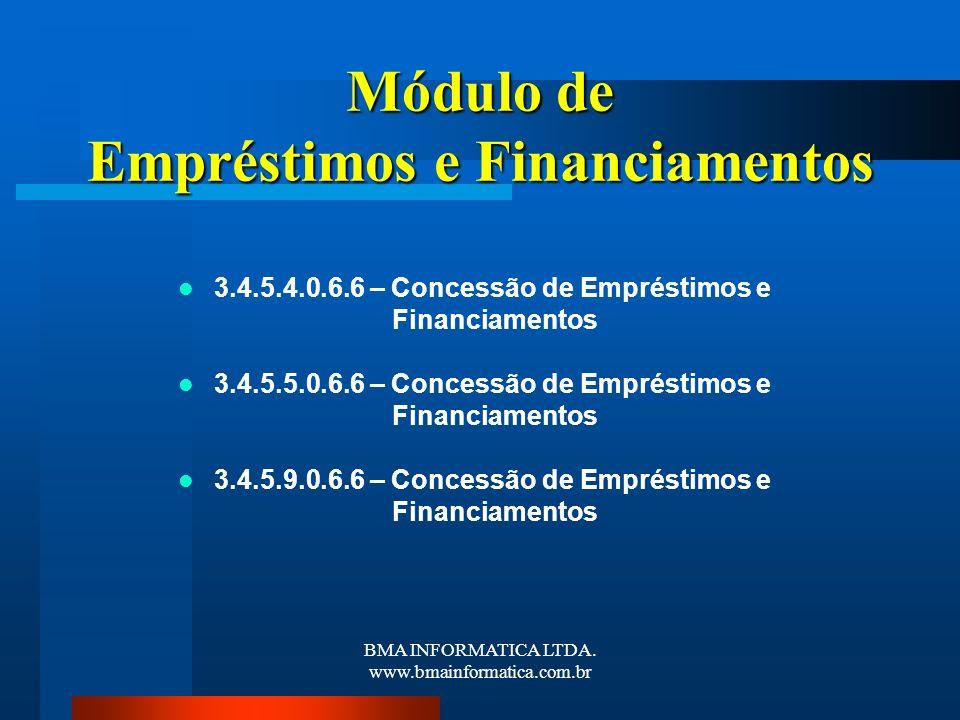 Módulo de Empréstimos e Financiamentos
