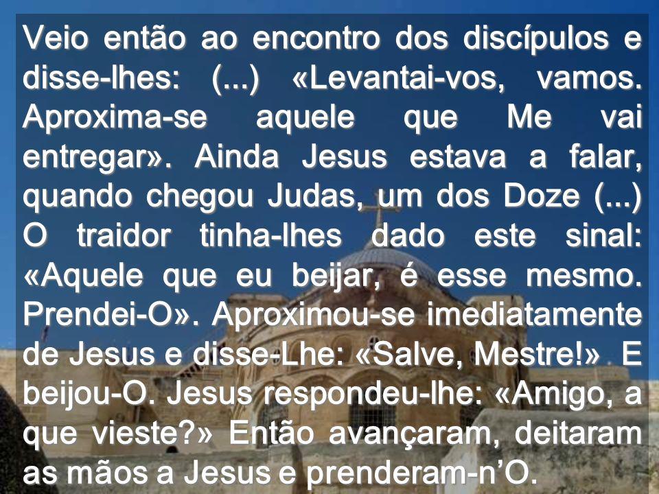 Veio então ao encontro dos discípulos e disse-lhes: (