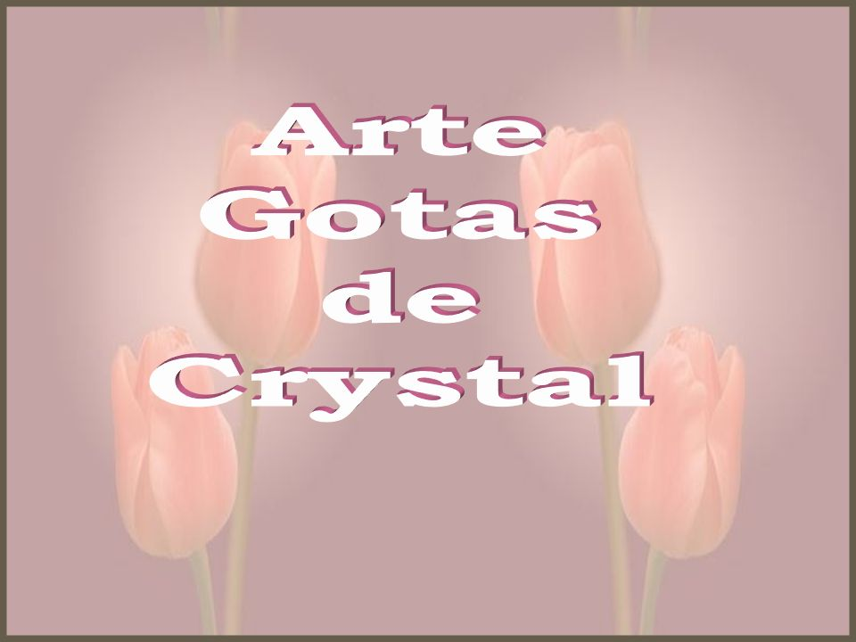 Arte Gotas de Crystal