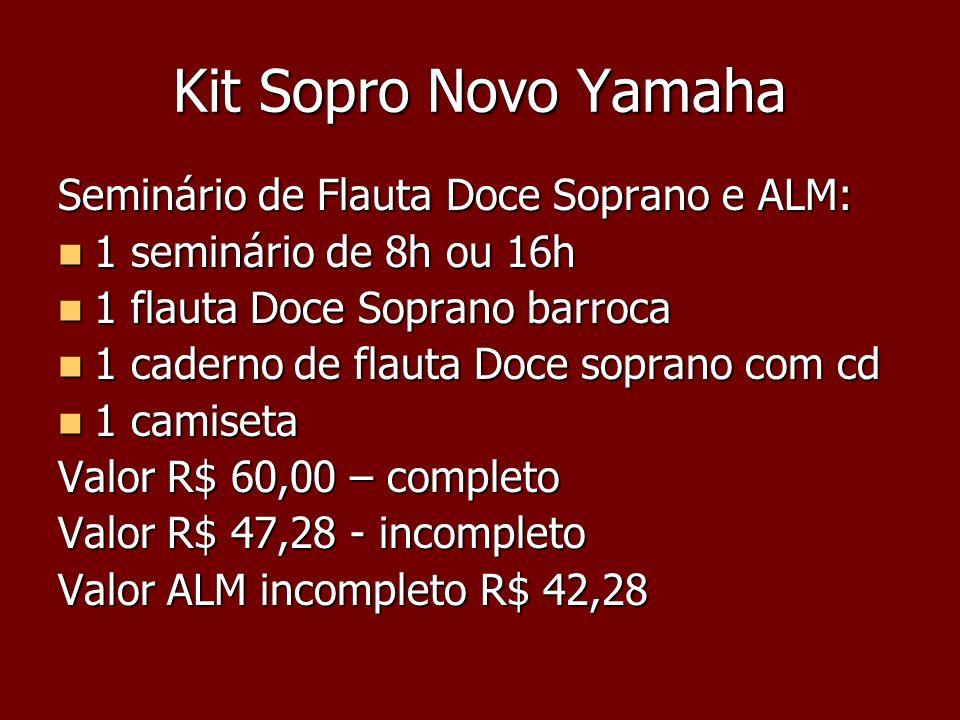 Kit Sopro Novo Yamaha Seminário de Flauta Doce Soprano e ALM: