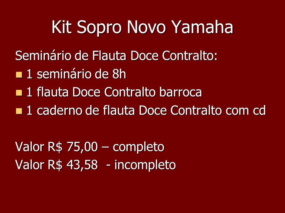 Kit Sopro Novo Yamaha Seminário de Flauta Doce Contralto: