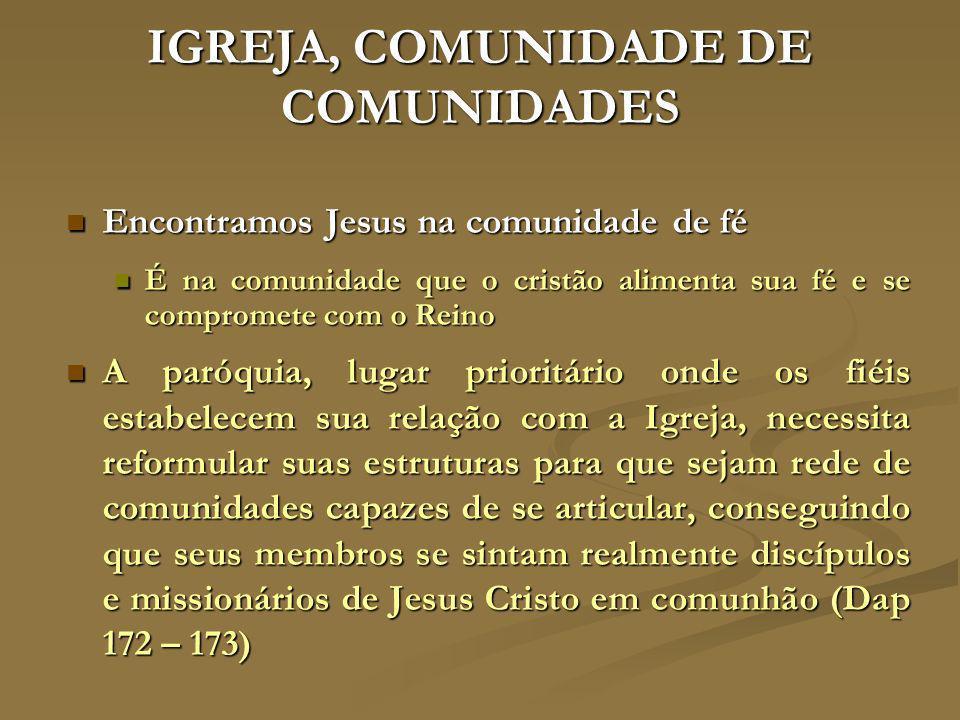IGREJA, COMUNIDADE DE COMUNIDADES