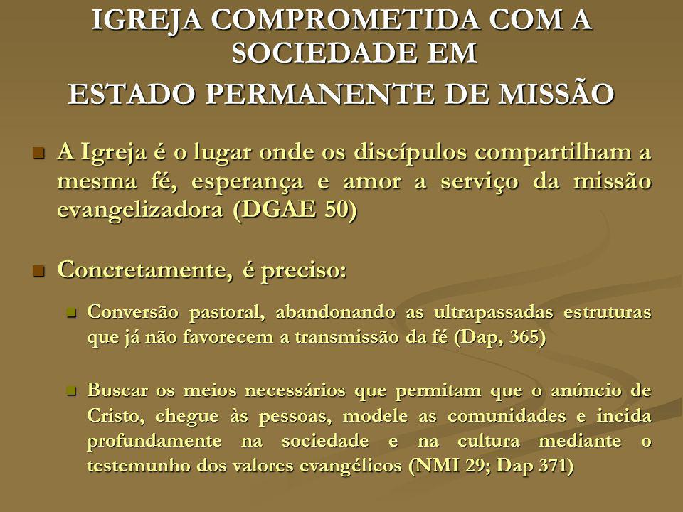 IGREJA COMPROMETIDA COM A SOCIEDADE EM ESTADO PERMANENTE DE MISSÃO
