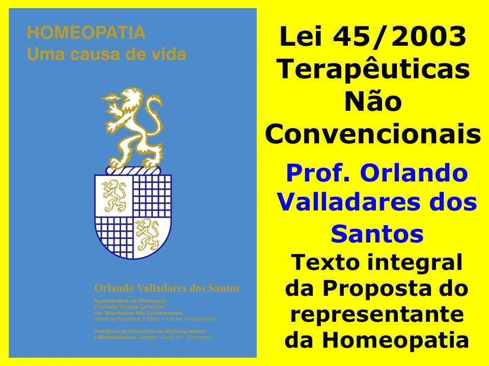 Lei 45/2003 Terapêuticas Não Convencionais