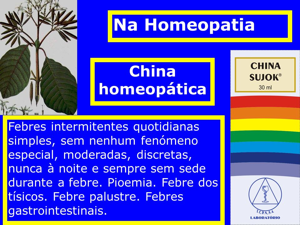 Na Homeopatia China homeopática