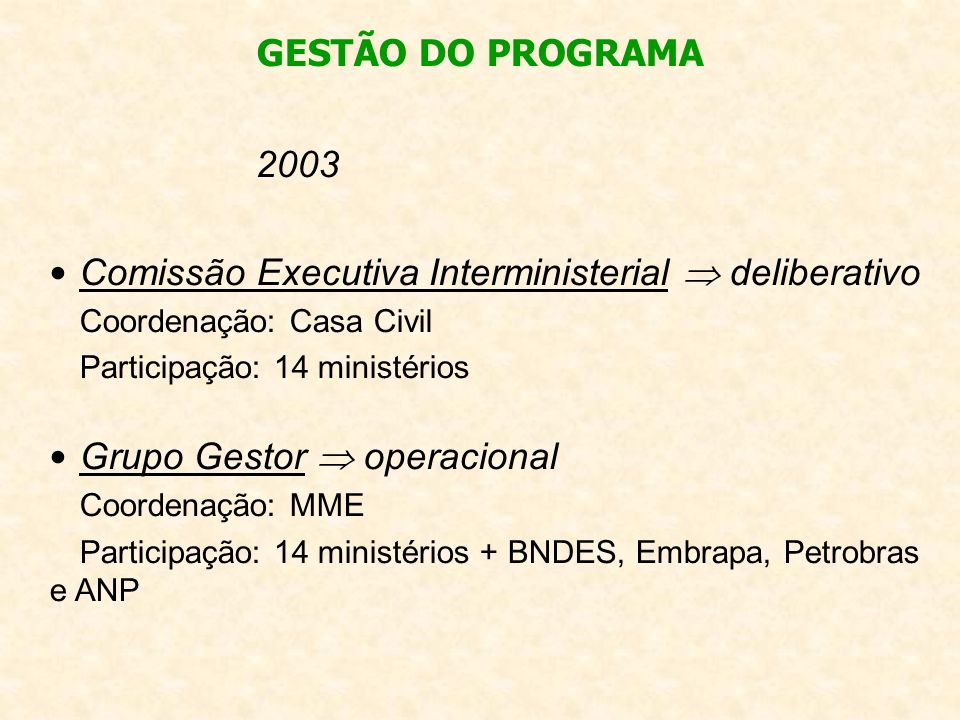 Comissão Executiva Interministerial  deliberativo