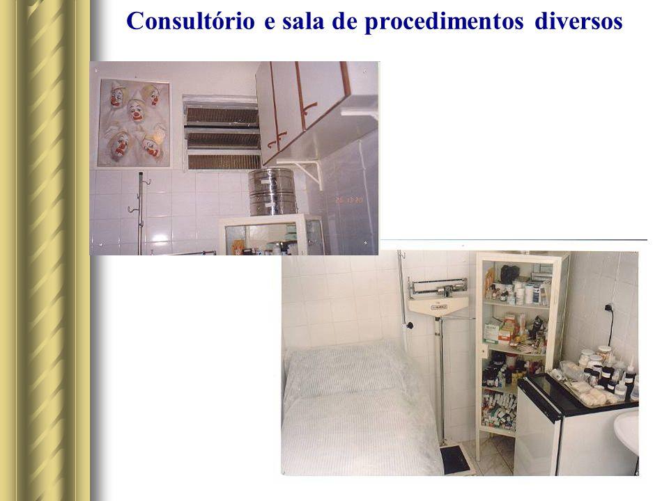 Consultório e sala de procedimentos diversos