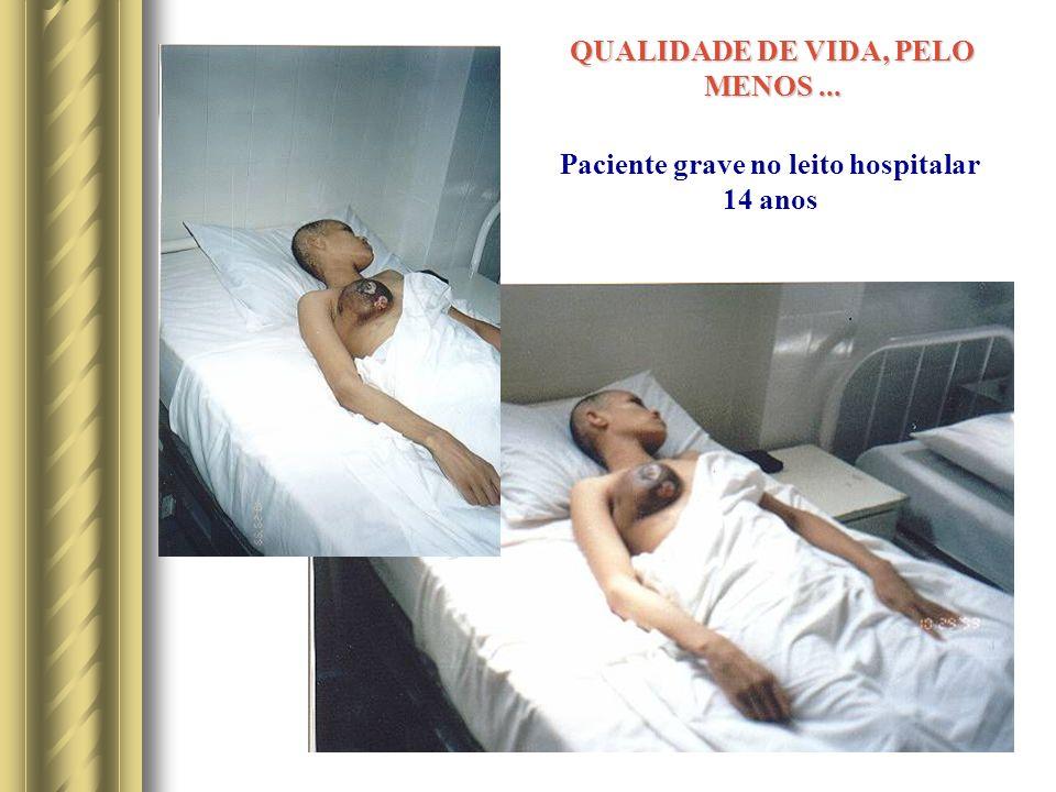 Paciente grave no leito hospitalar 14 anos