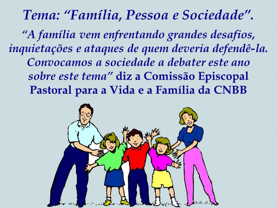 Tema: Família, Pessoa e Sociedade .