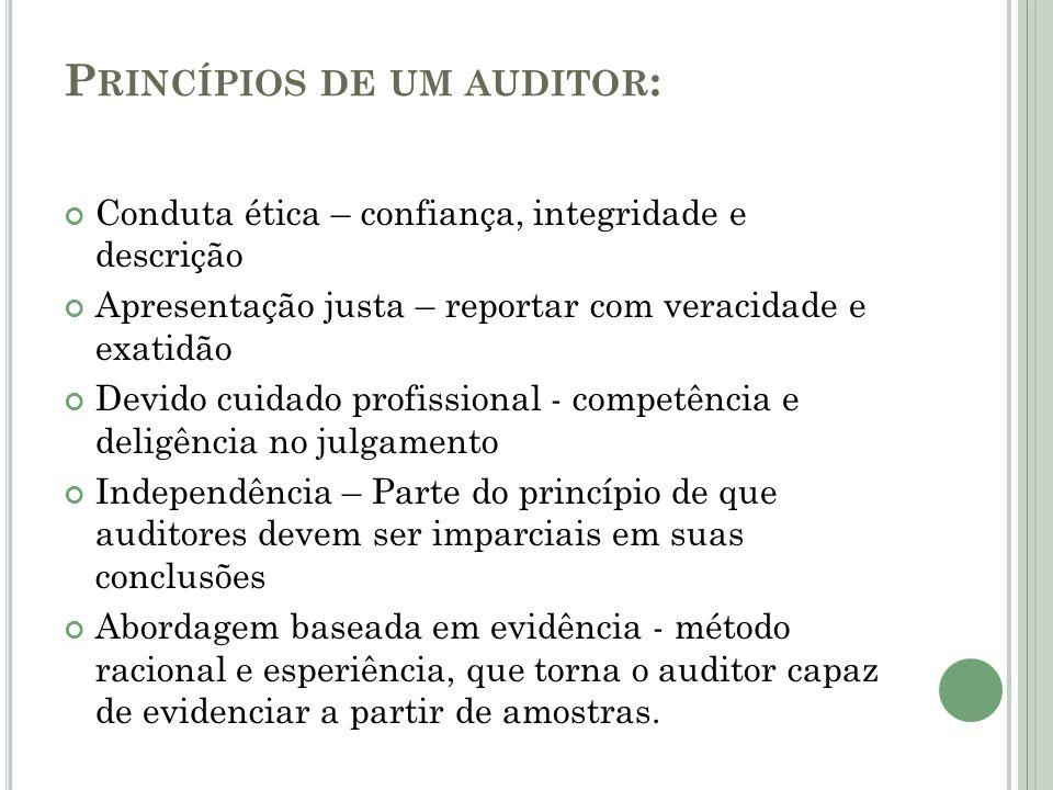 Princípios de um auditor: