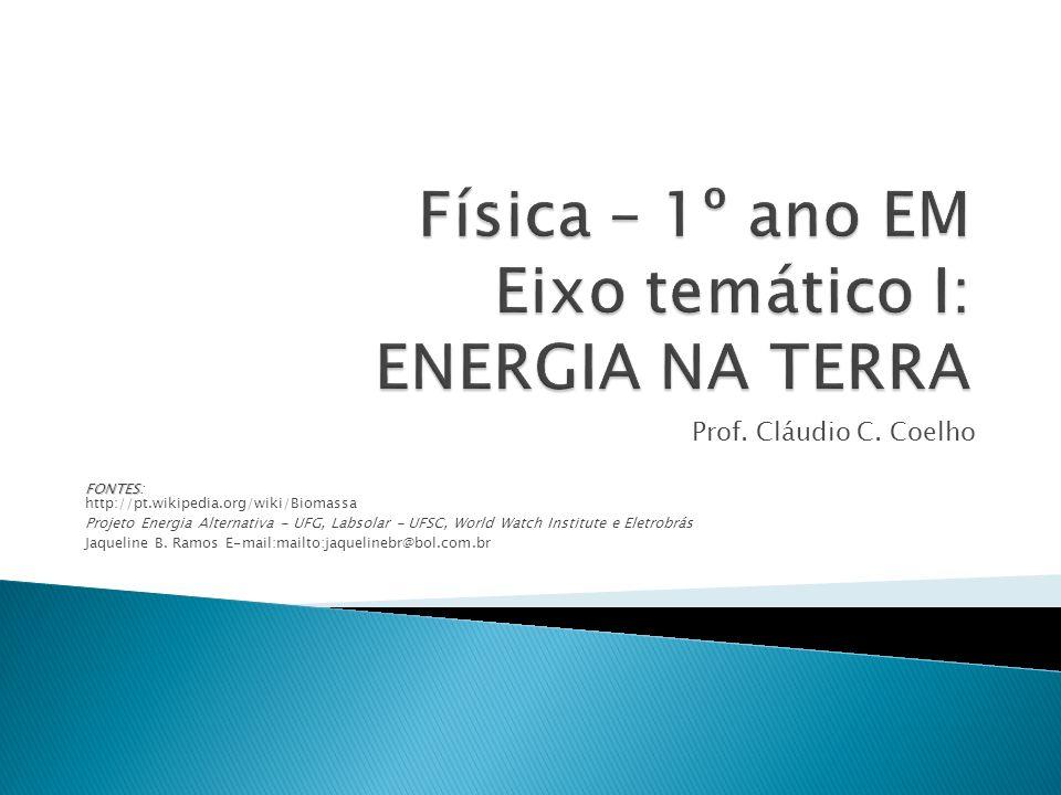 Física – 1º ano EM Eixo temático I: ENERGIA NA TERRA