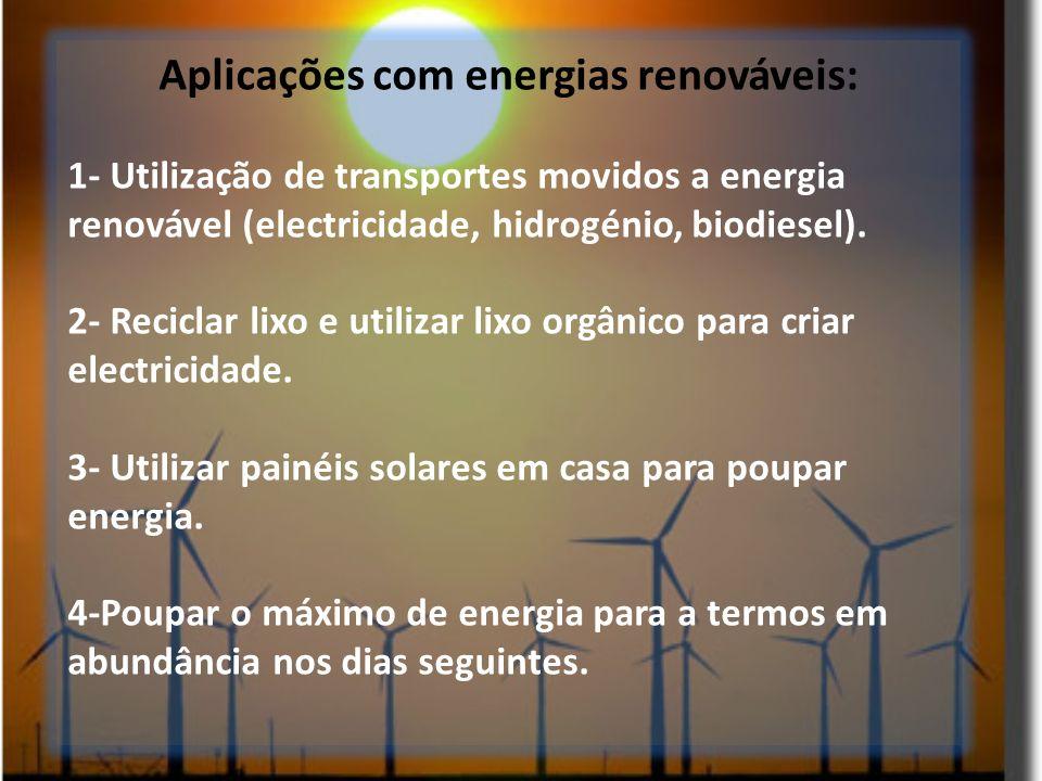 Aplicações com energias renováveis: