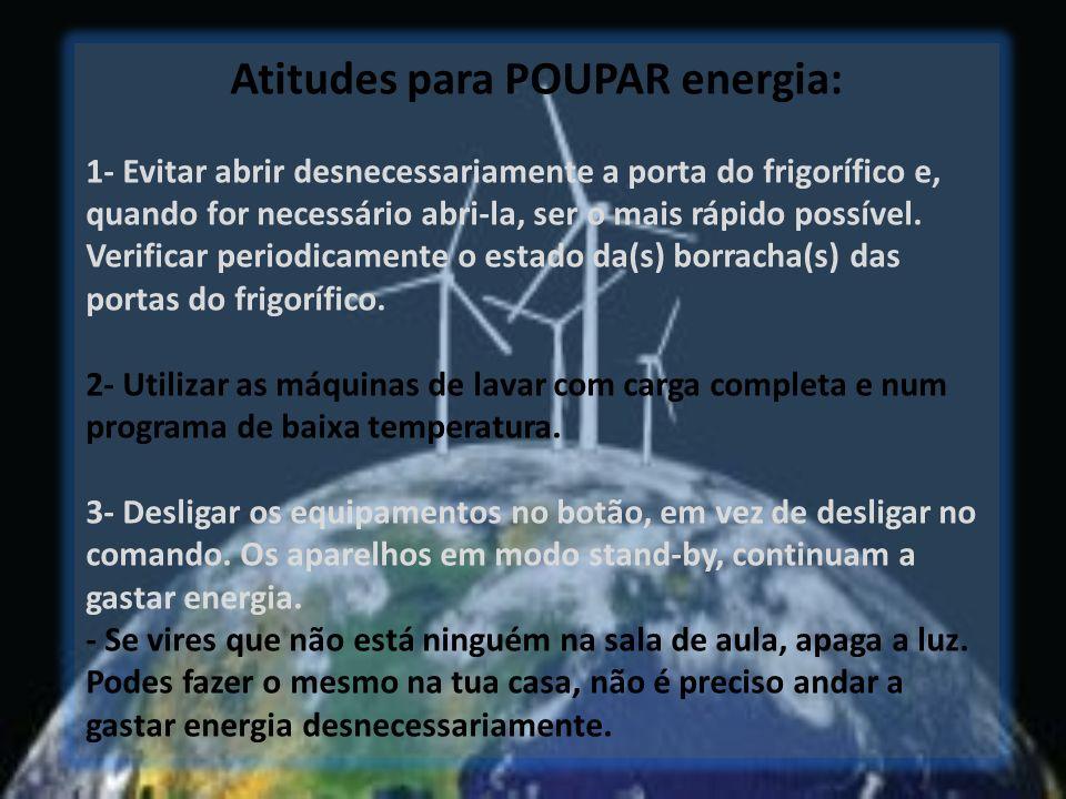 Atitudes para POUPAR energia: