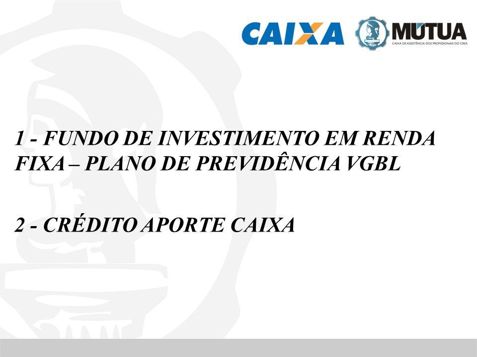 1 - FUNDO DE INVESTIMENTO EM RENDA FIXA – PLANO DE PREVIDÊNCIA VGBL