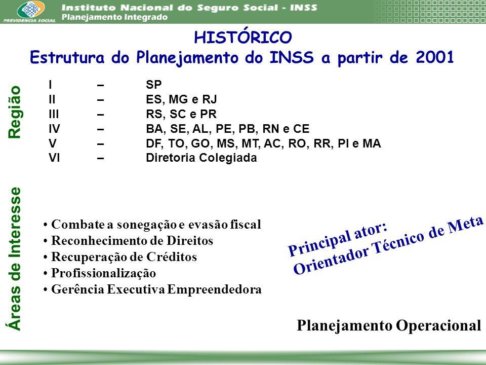 Estrutura do Planejamento do INSS a partir de 2001