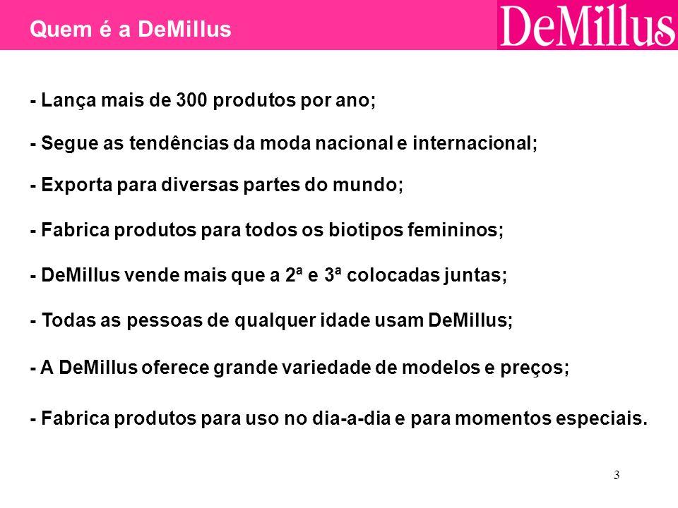 Quem é a DeMillus - Lança mais de 300 produtos por ano;
