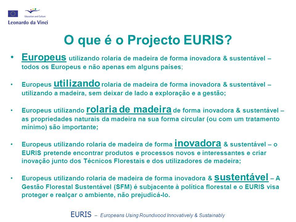O que é o Projecto EURIS Europeus utilizando rolaria de madeira de forma inovadora & sustentável – todos os Europeus e não apenas em alguns países;