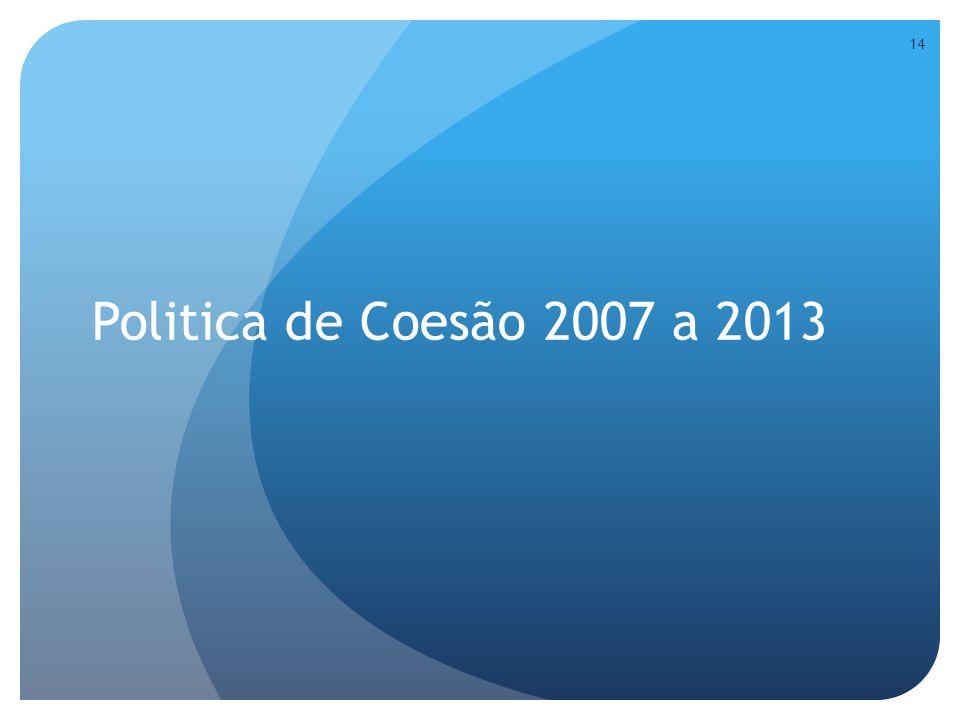 Politica de Coesão 2007 a 2013