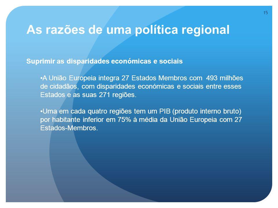 As razões de uma política regional