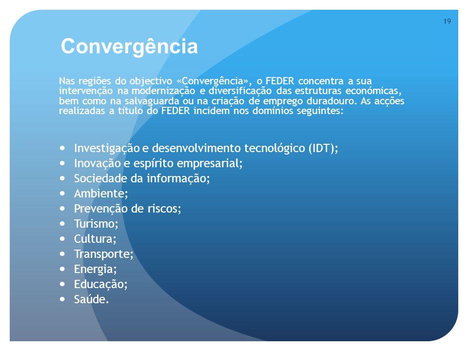 Convergência Investigação e desenvolvimento tecnológico (IDT);