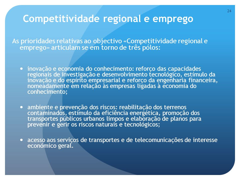 Competitividade regional e emprego
