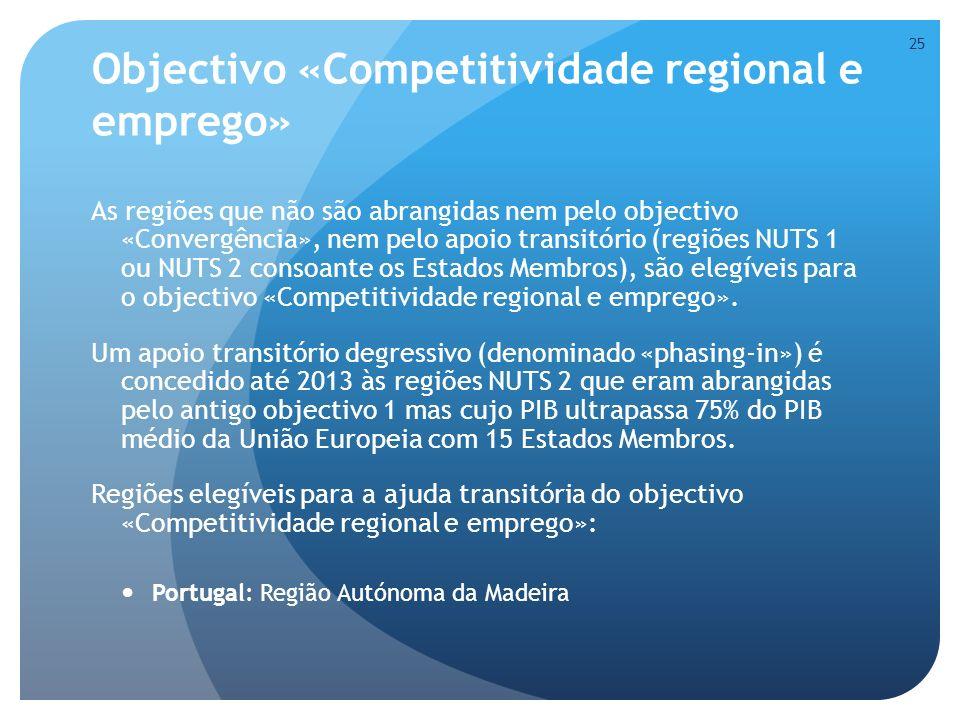Objectivo «Competitividade regional e emprego»