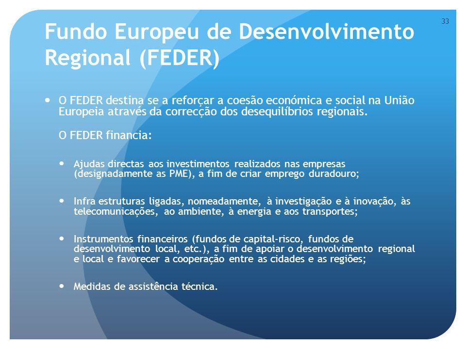 Fundo Europeu de Desenvolvimento Regional (FEDER)