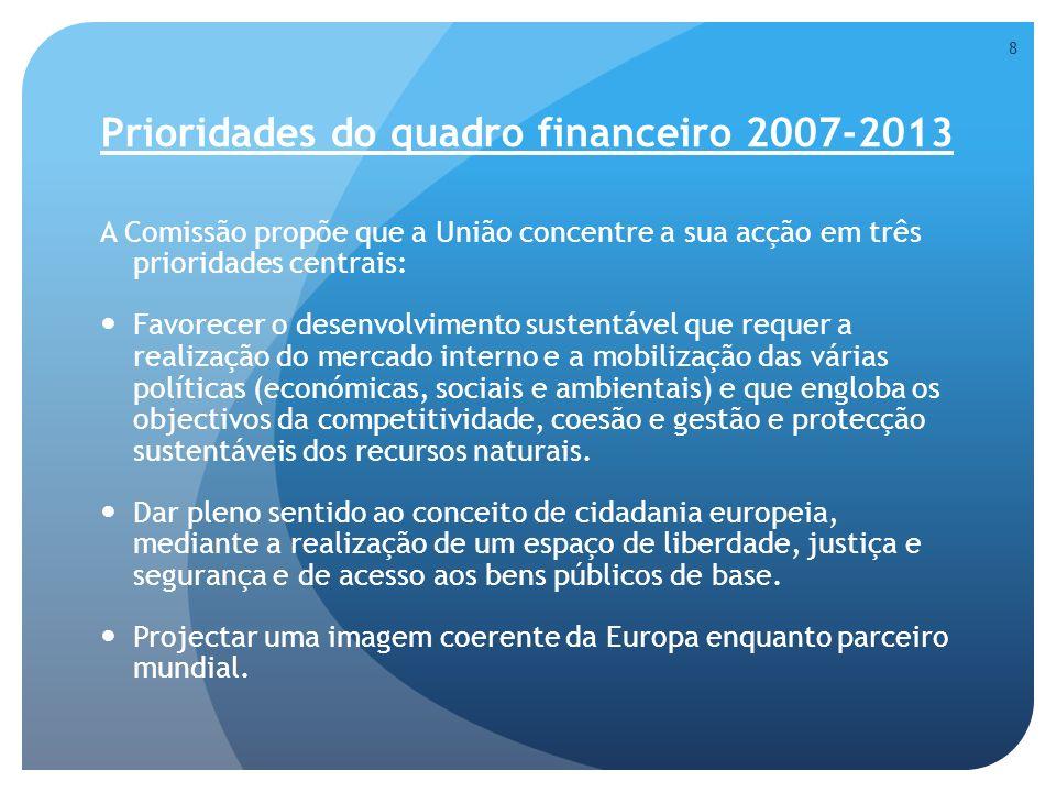 Prioridades do quadro financeiro 2007-2013