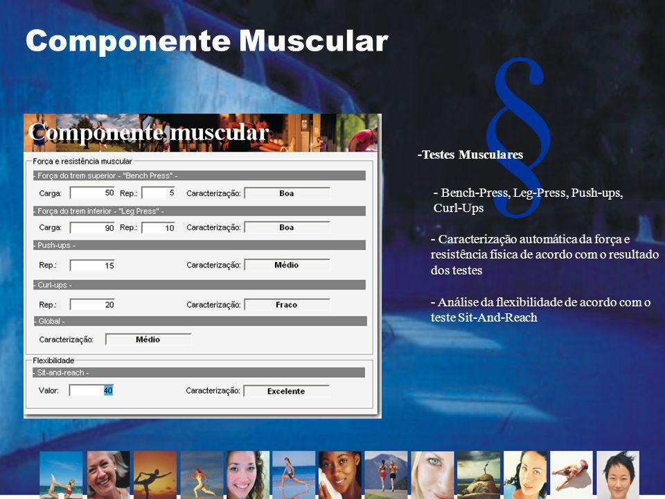 Componente Muscular Testes Musculares