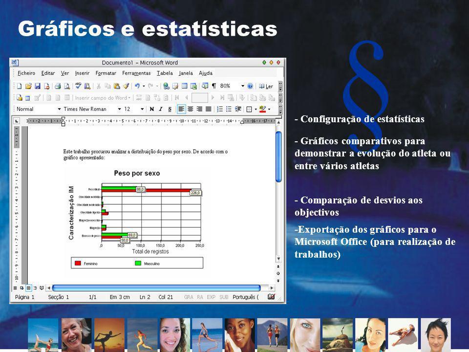 Gráficos e estatísticas