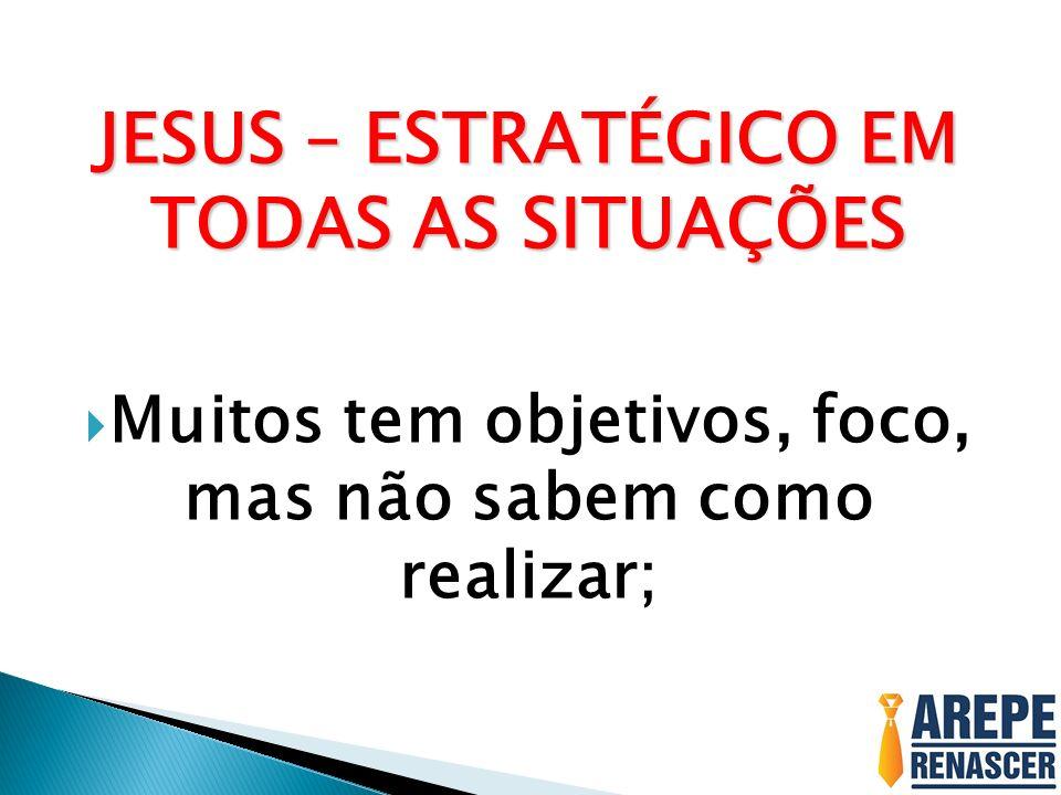 JESUS – ESTRATÉGICO EM TODAS AS SITUAÇÕES