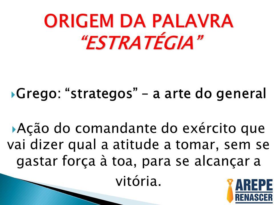 ORIGEM DA PALAVRA ESTRATÉGIA Grego: strategos – a arte do general