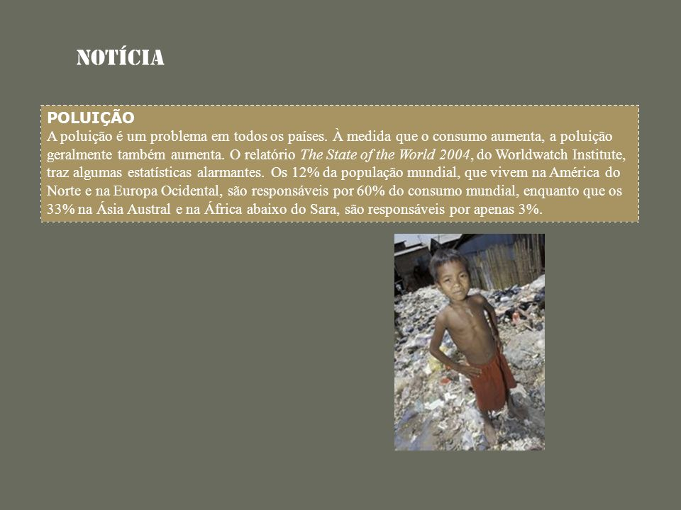 Notícia POLUIÇÃO.