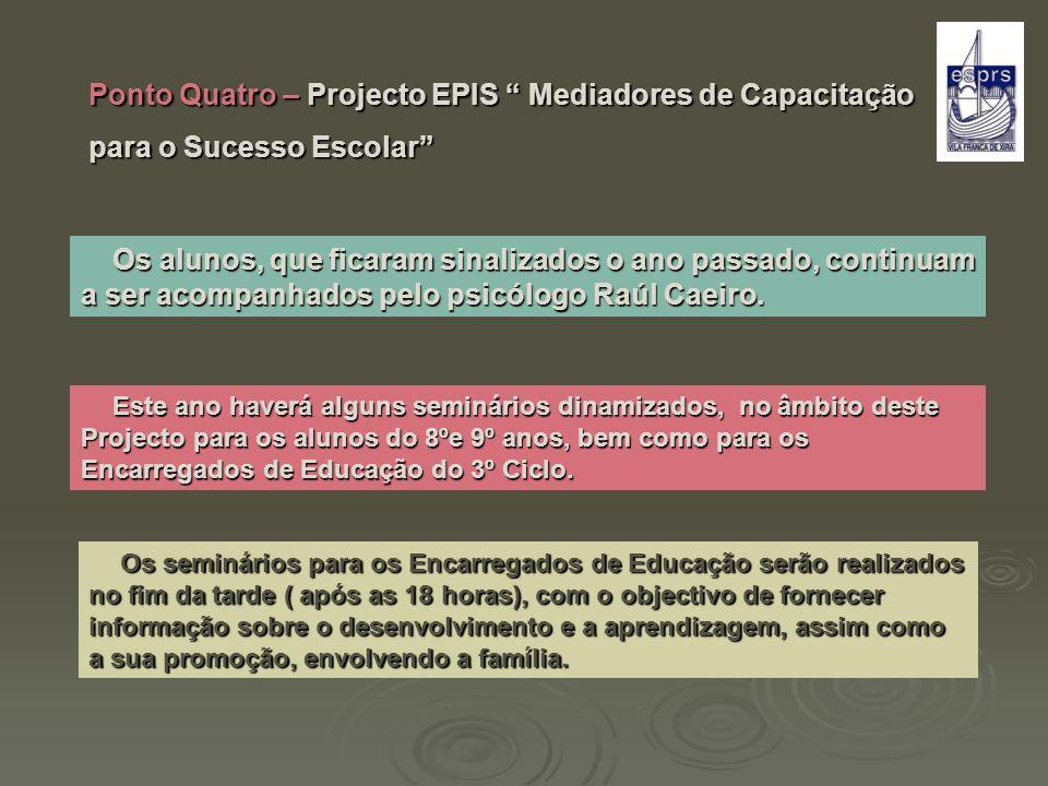 Ponto Quatro – Projecto EPIS Mediadores de Capacitação