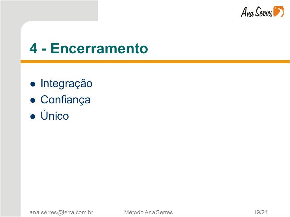 4 - Encerramento Integração Confiança Único Método Ana Serres 19/21