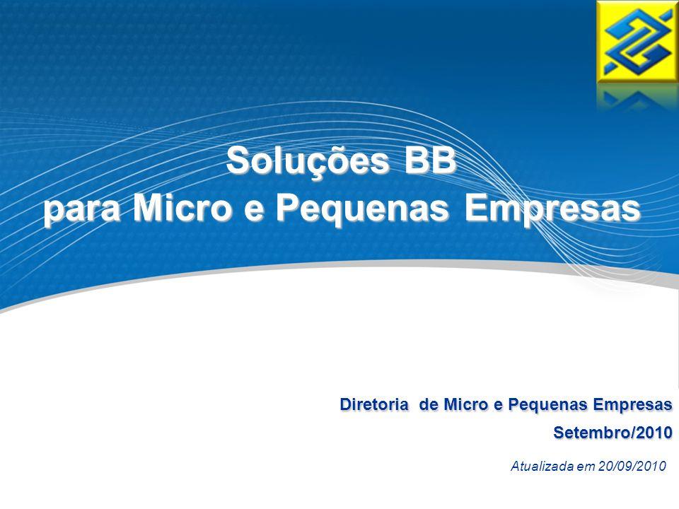 Diretoria de Micro e Pequenas Empresas Setembro/2010