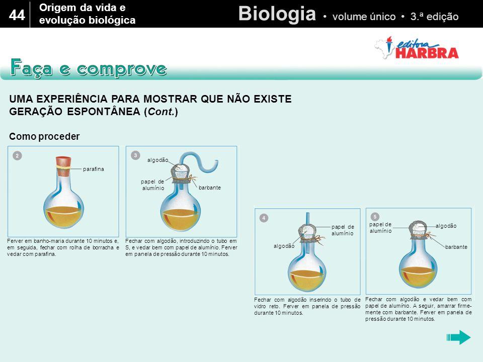 44 Origem da vida e evolução biológica