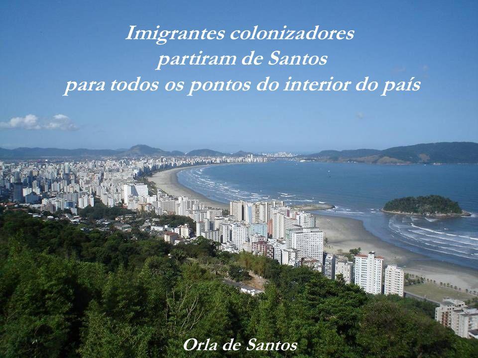 Imigrantes colonizadores para todos os pontos do interior do país