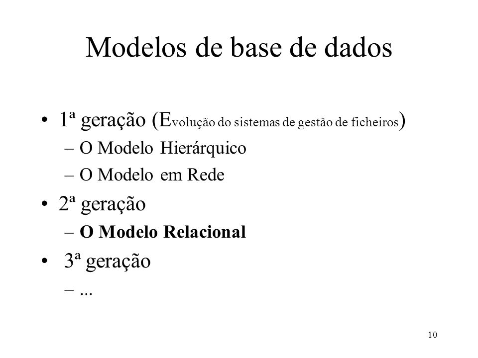 Modelos de base de dados