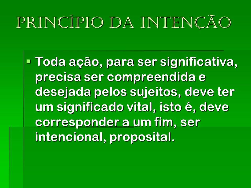 Princípio da intenção