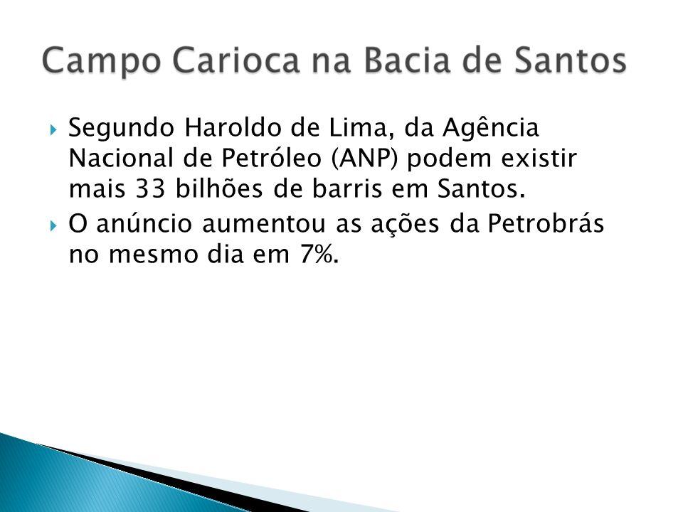 Segundo Haroldo de Lima, da Agência Nacional de Petróleo (ANP) podem existir mais 33 bilhões de barris em Santos.
