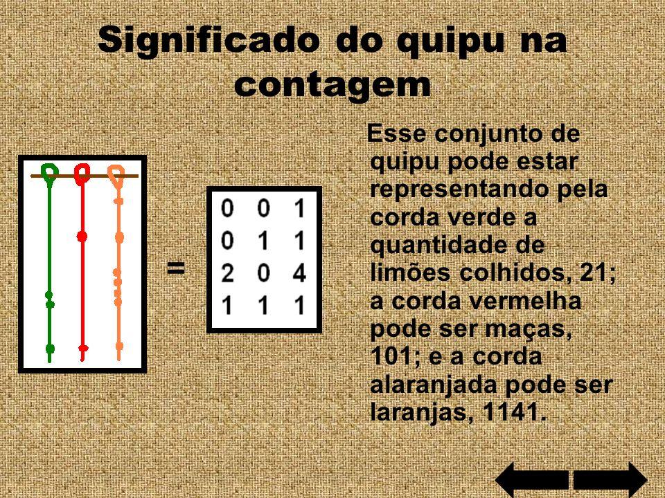 Significado do quipu na contagem