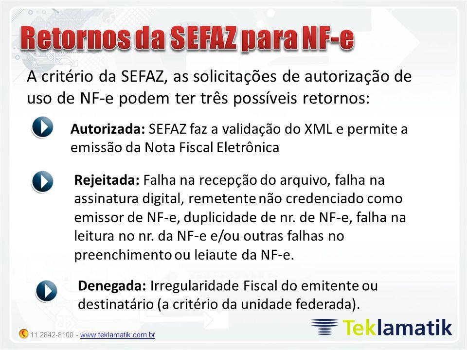 Retornos da SEFAZ para NF-e